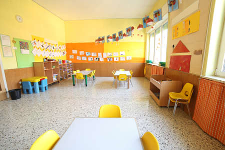 Foto de classroom of a daycare center without children and teacher - Imagen libre de derechos