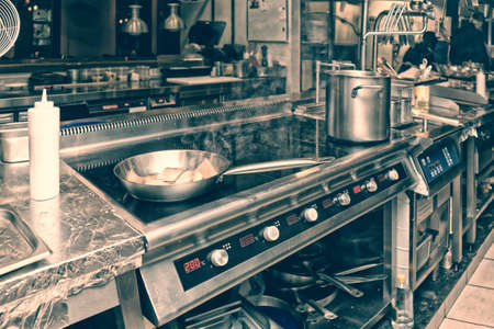 Photo for Professional kitchen interior, toned image - Royalty Free Image