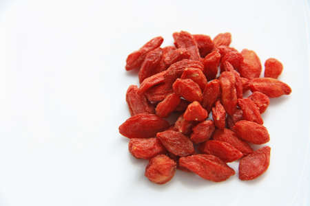 Photo for Chinese herb - Goji berry, Wolfberry  isolated on white - Royalty Free Image