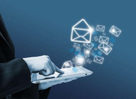 Photo pour Sending email - image libre de droit