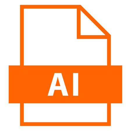 Ilustración de Use it in all your designs. Filename extension icon AI Adobe Illustrator File in flat style. Quick and easy recolorable shape. Vector illustration a graphic element. - Imagen libre de derechos