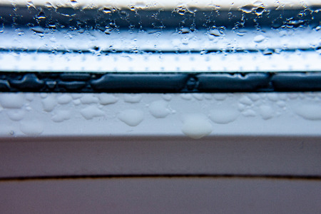 Photo for Background photo of raindrops on the glass, condensation on the windows, horizontal view, high quality and detail - Royalty Free Image