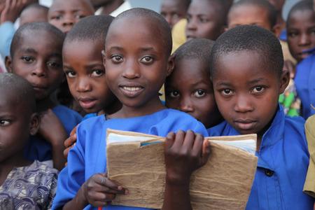 Photo pour Children at school, Africa - image libre de droit