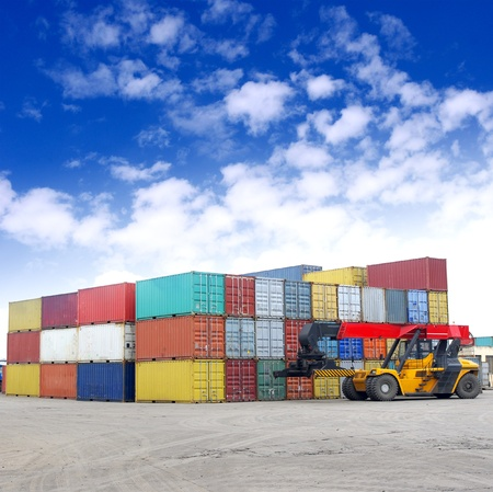 Photo for Containers and stackers - Royalty Free Image