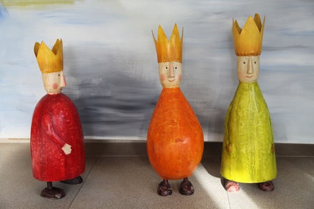 Toy colorful Figurines of three Kings(three wise men)