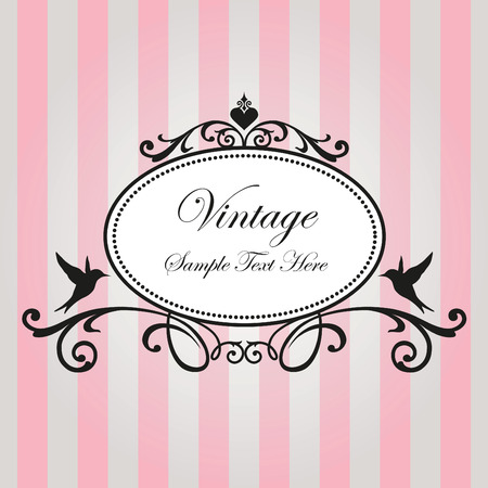Photo for Vintage frame on pink background - Royalty Free Image