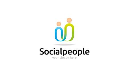Ilustración de Social People Logo - Imagen libre de derechos