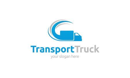 Photo for Transport Truck Logo - Royalty Free Image
