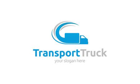 Photo pour Transport Truck Logo - image libre de droit