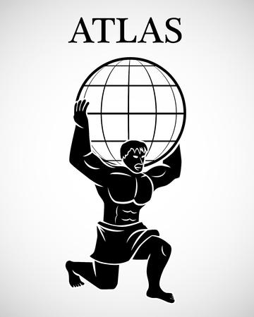 Illustration for Stylized Atlas    - Royalty Free Image