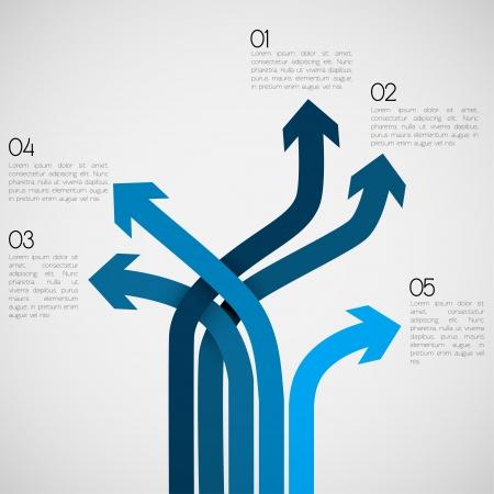 Illustration pour Different Way Infographics   EPS10 Vector - image libre de droit