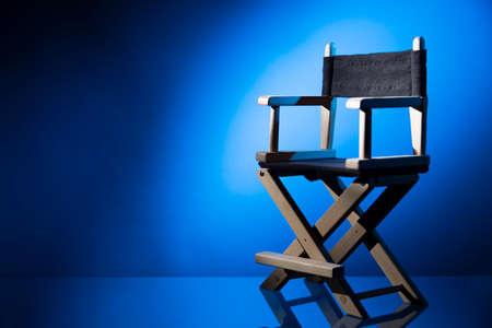 Photo pour Dramatic lit Director's Chair - image libre de droit
