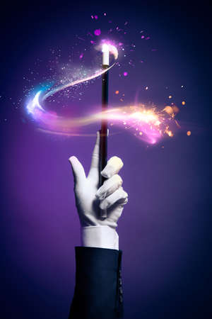 Photo for Magician hand with magic wand - Royalty Free Image