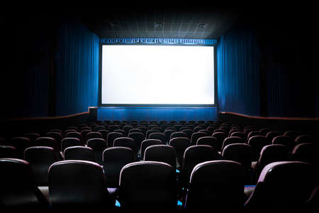 Photo for Movie Theater with blank screen / High contrast image - Royalty Free Image