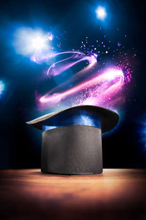 Photo for photo composite of a magic hat on a stage - Royalty Free Image