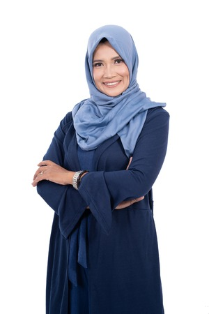 Foto de mature asian muslim woman with hijab - Imagen libre de derechos