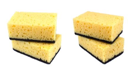Photo for Sponges for dishwashing isolated on a white background - Royalty Free Image