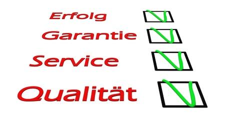 3d illustration of check green mark over white background