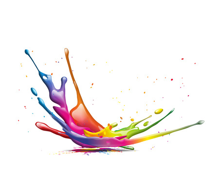 Photo for abstract illustration of a colorful ink splash - Royalty Free Image