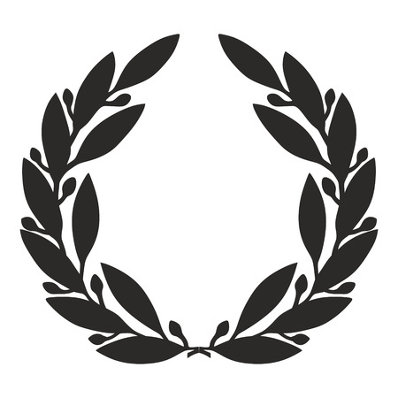 Photo pour an illustration of a simplified laurel wreath - image libre de droit
