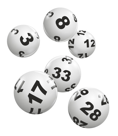 Foto de abstract illustration of dynamically falling lottery balls - Imagen libre de derechos