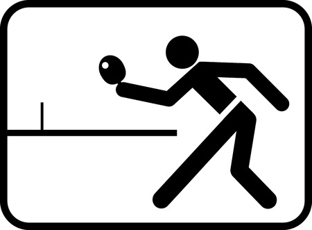 pictogram for table tennis match with abstract figure