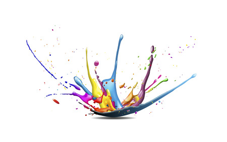 Foto de abstract illustration of a color explosion or splash - Imagen libre de derechos
