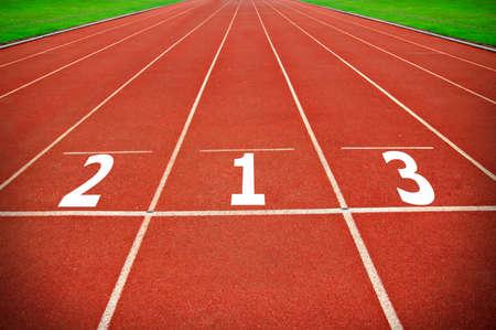 Running Track Lane Numbers