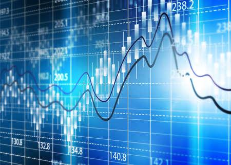 Foto de Stock exchange chart,Business analysis diagram. - Imagen libre de derechos