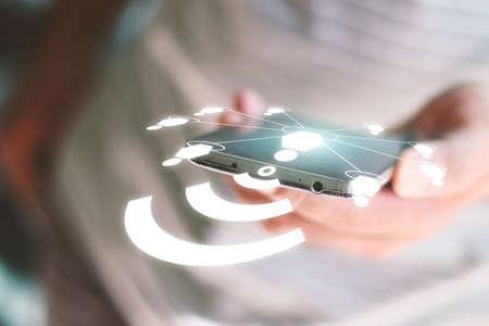 Foto de Social network concept.data communication. - Imagen libre de derechos