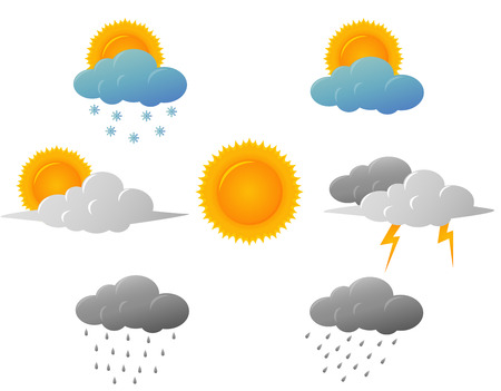 Illustration pour Weather icons design - image libre de droit