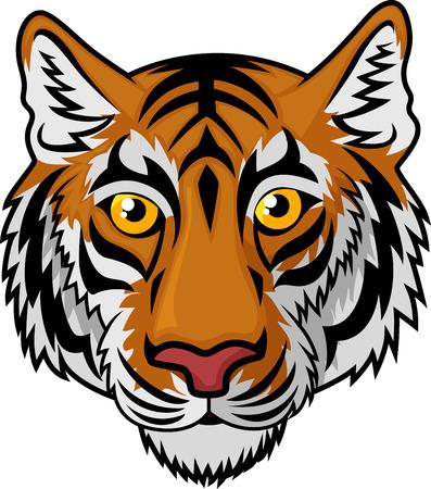 Tiger Head Mascot Team Sport cartoon