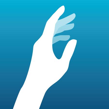 Ilustración de Lady hand silhouette vector - Imagen libre de derechos