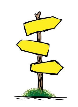 Illustration pour wooden road signs - image libre de droit