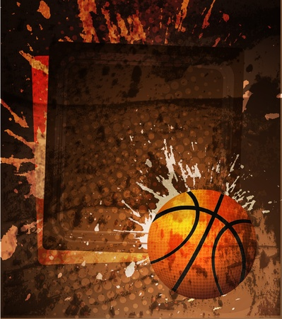 Basketball Advertising poster. Vector illustration