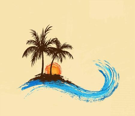Illustration pour Palm trees - image libre de droit