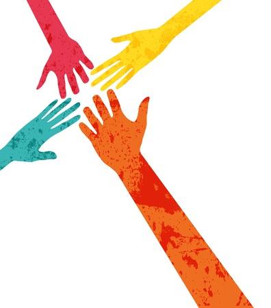 Illustration pour hands connecting - image libre de droit