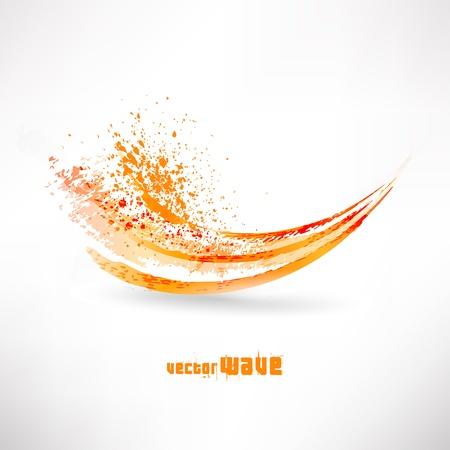 Photo pour abstract orange wave - image libre de droit