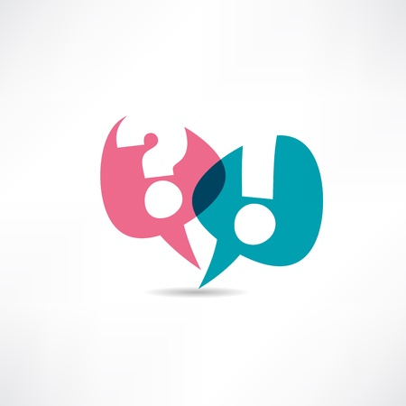 Illustration pour Question mark and exclamation point icon - image libre de droit