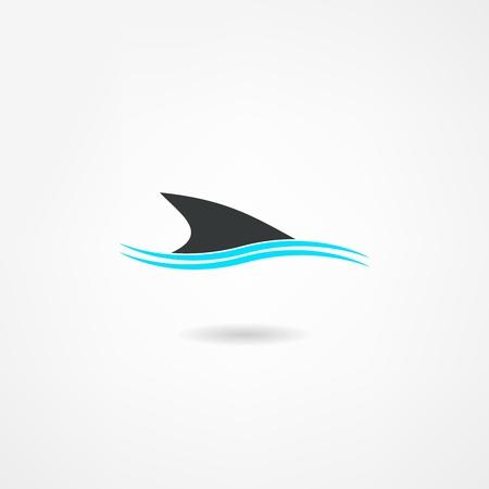 Ilustración de shark icon - Imagen libre de derechos