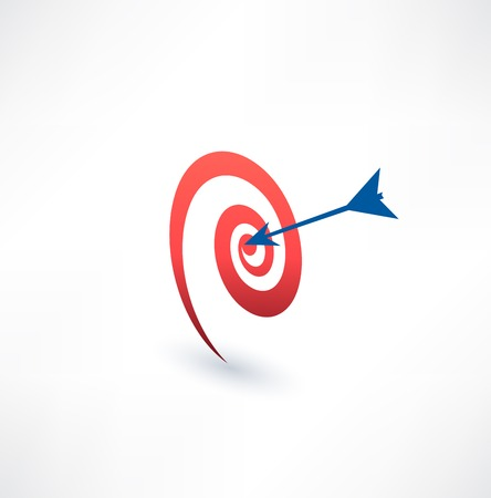 Target and arrow icon. The concept of purpose. Logo design.