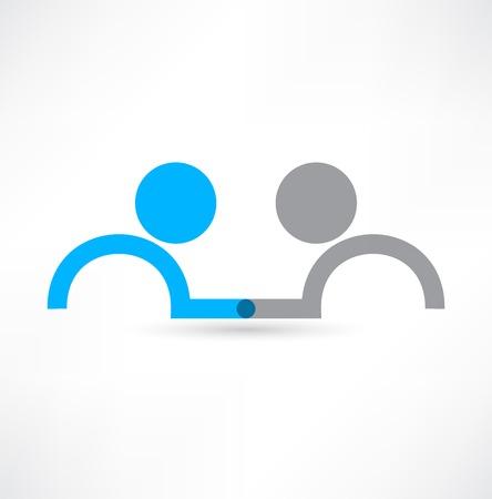 Ilustración de Handshake icon. Logo design. - Imagen libre de derechos