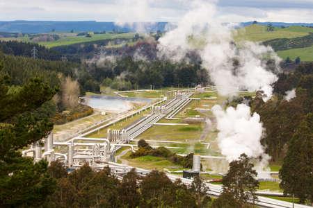 Photo pour Wairakei Geothermal Station - image libre de droit