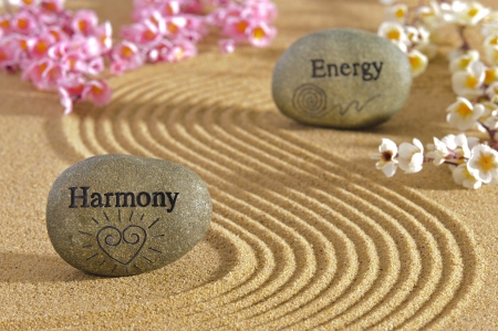Photo for zen garden with harmony and energy - Royalty Free Image