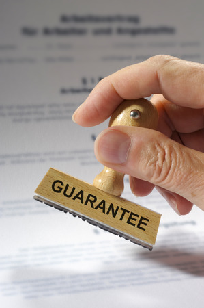 Photo for Guarantee printed on rubber stamp - Royalty Free Image