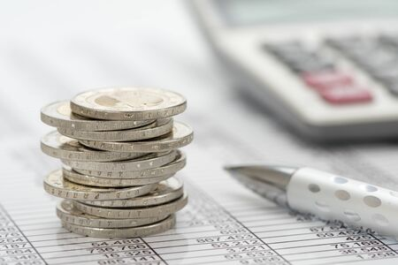 Foto de business and finance with Euro currency - Imagen libre de derechos