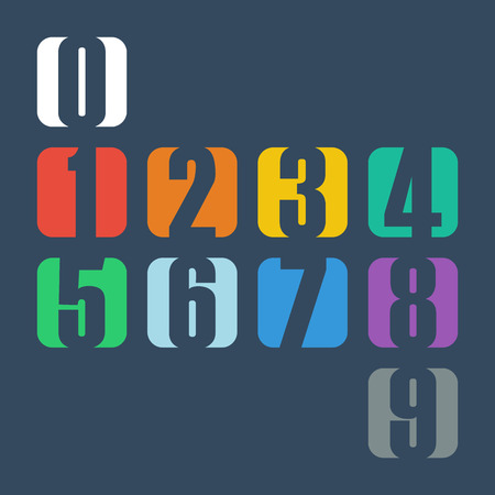 Illustration for Numbers set. Design vector illustration. - Royalty Free Image