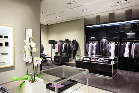 Foto de luxury stylish and modern fashion clothes store - Imagen libre de derechos