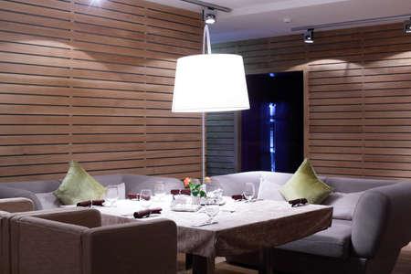 Foto de new and clean luxury restaurant in european style - Imagen libre de derechos