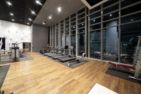 Photo for bright european gym with a lot of windows - Royalty Free Image